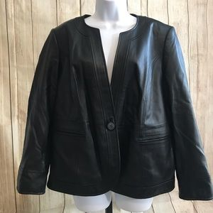 New Fall! Buttery Soft Petite Leather Jacket NWOT